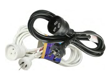 STANDARD HOUSEHOLD POWER EXTENSION LEAD - 3mtr.