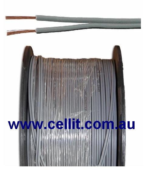 24AWG GENERAL PURPOSE - TWIN 1.6mm. CABLE. AUTO POWER, SPEAKER ETC. - 100m REEL