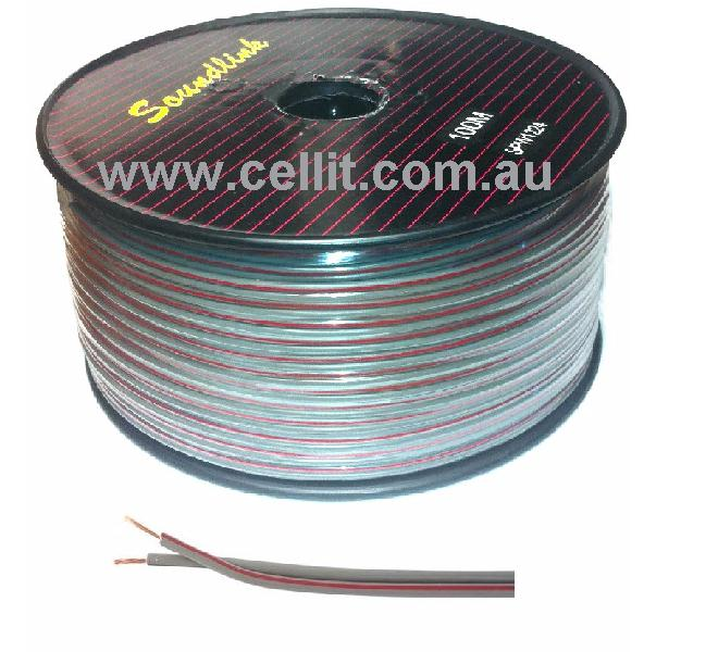 22AWG GENERAL PURPOSE - TWIN 2.5mm. CABLE. AUTO POWER, SPEAKER ETC. 100m REEL
