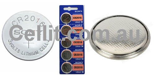 CR2016 LITHIUM 3V BUTTON/COIN CELL BATTERY - SONY JAPAN