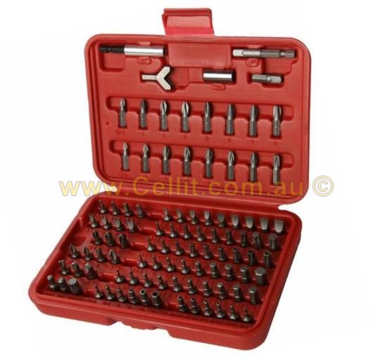 100pc SCREW DRIVER BIT SET & MAGNETIC HOLDER. HEX TORX TRI-WING P2 etc