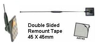 REPLACEMENT ADHESIVE STICKY TAPE PADS FOR GLASS MOUNT ANTENNA/AERIAL BASE