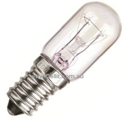 MICROWAVE OVEN & FRIDGE LIGHT BULB/GLOBE 15w 240v ES14 14mm LAMP
