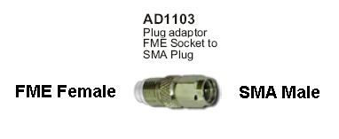 FME Female to SMA Male adaptor