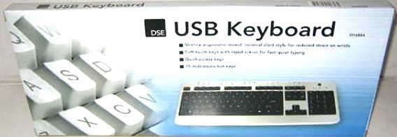 BULK BUY BOX OF 5 SLIMLINE KEYBOARDS with PS2/USB ADAPTOR. SAVE!
