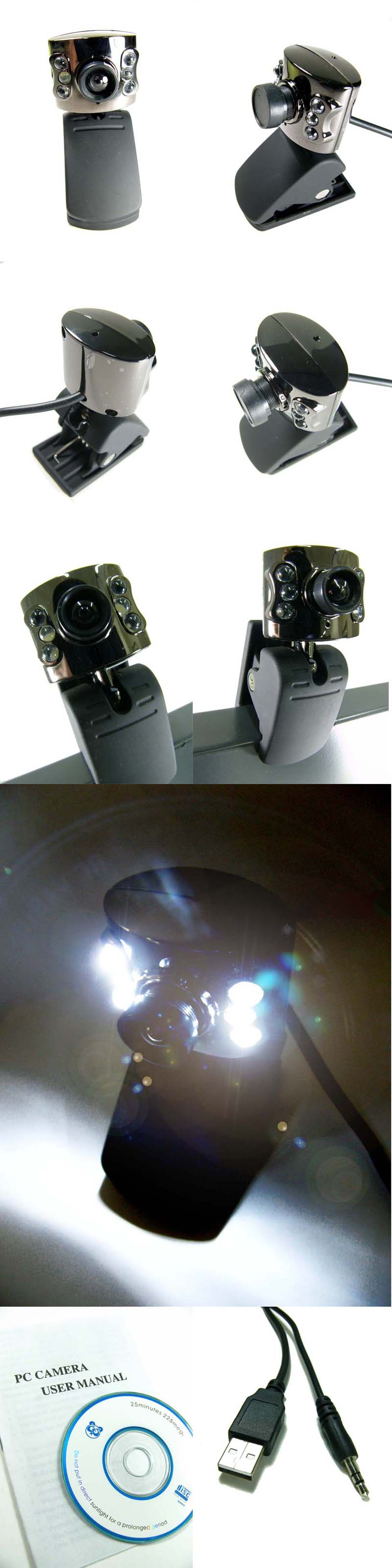 WEB-CAM with BUILT IN MIC and AUTO LIGHTING!