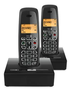 DORO CORDLESS DIGITAL PHONES, DUAL PACK. DECT. NeoBio 20 BLACK