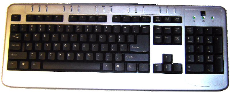 *FREE!* SLIMLINE USB KEYBOARD WITH PS2 ADAPTOR + 15 MULTIMEDIA HOTKEYS.