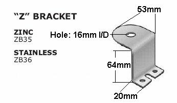 QUALITY ZINC Z ANTENNA BRACKET